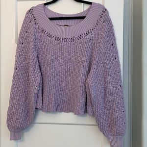 Free People oversized cropped sweater